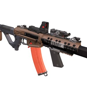 3D model ammo weapon