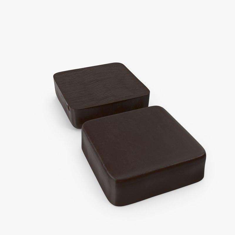 3D chocolate ice cream bar
