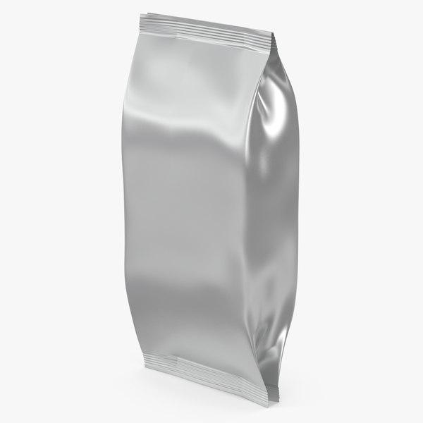 3D silver plastic foil bags