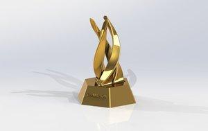 3D trophy ascend model