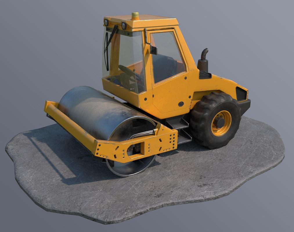 3D steamroller vehicle