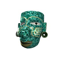 Aztec warrior mosaic mask