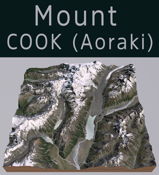 mount cook aoraki model