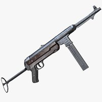 MP40 Submachine Gun AAA Game Weapon