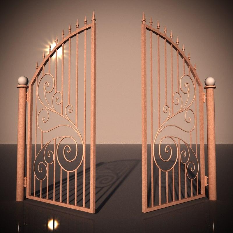 3D bronze gate