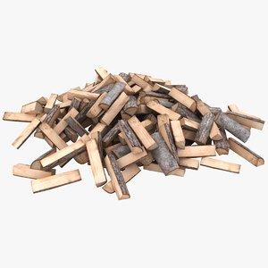 3D realistic firewood pile model