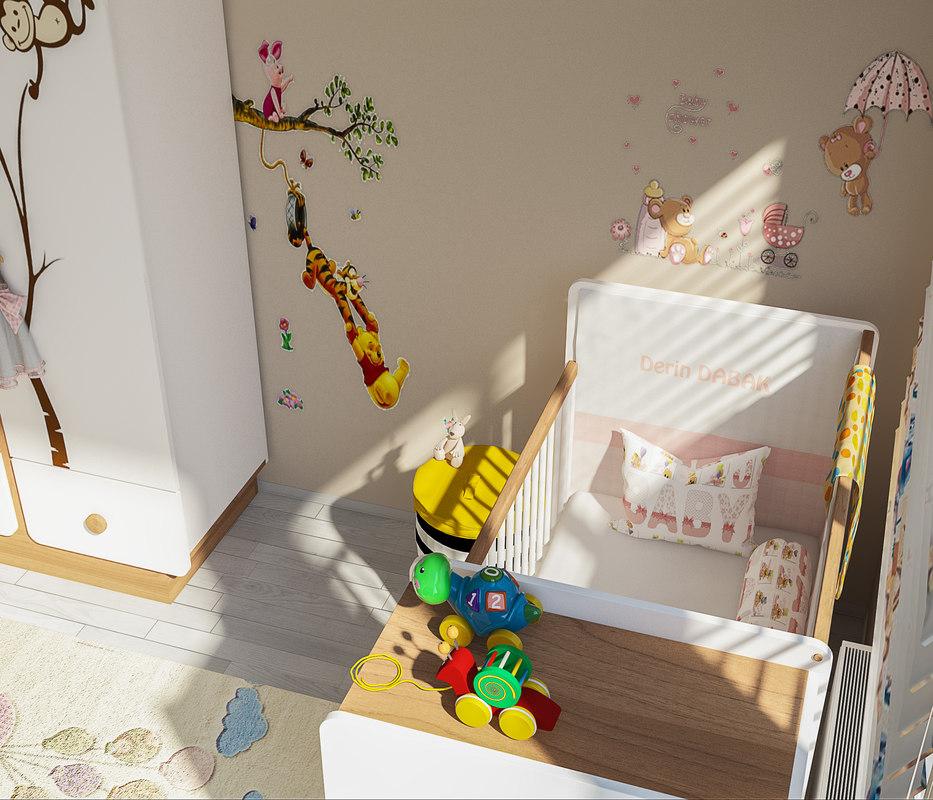 baby room furniture 3D model
