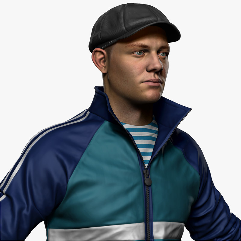 russian hooligan zbrush 3D model
