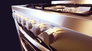 gas stove kitchen 3D model