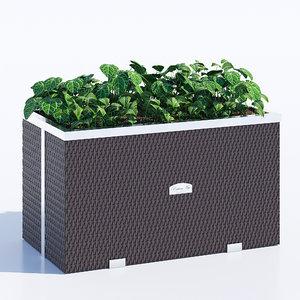 polyrattan planter model