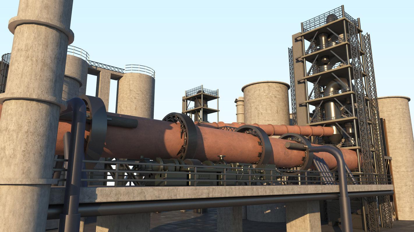 3D cement plant