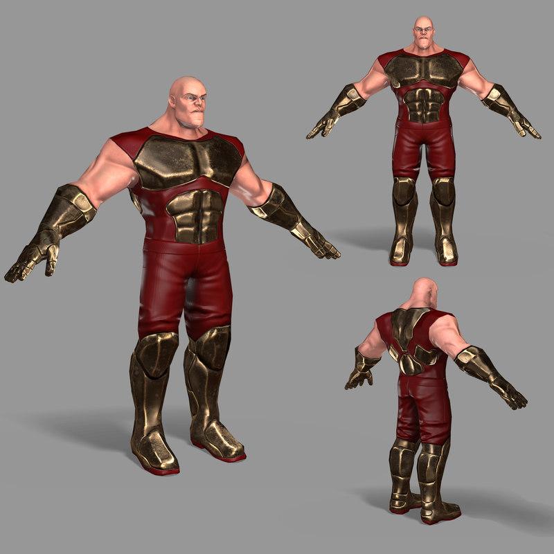 ready superhero 3D model