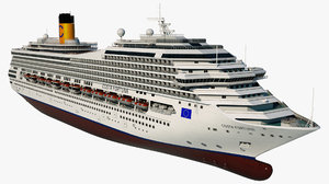3D cruise costa fortuna ship