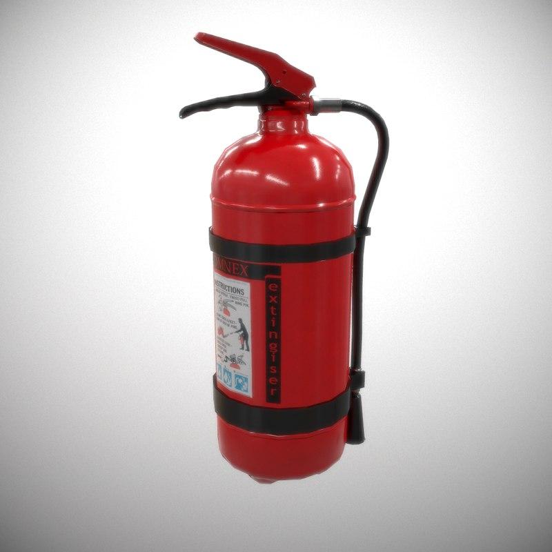 powder extinguisher 3D model
