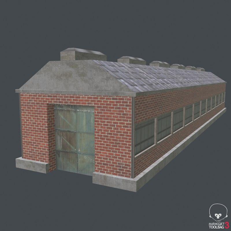 warehouse house 3D model