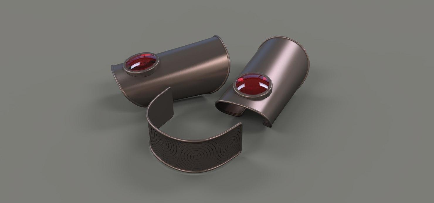 3D headband arm cuff model