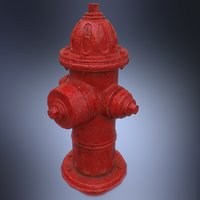 painted hydrant 3D