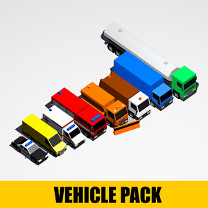 3D model package vehicle