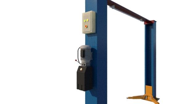 workshop car lifter 3D model