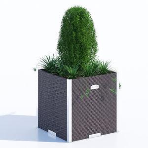 polyrattan planter 3D model