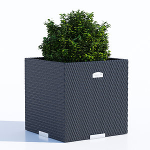 3D polyrattan planter