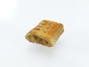 pie puff bread cake 3D model