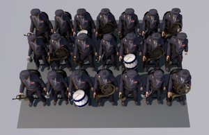 3D military band