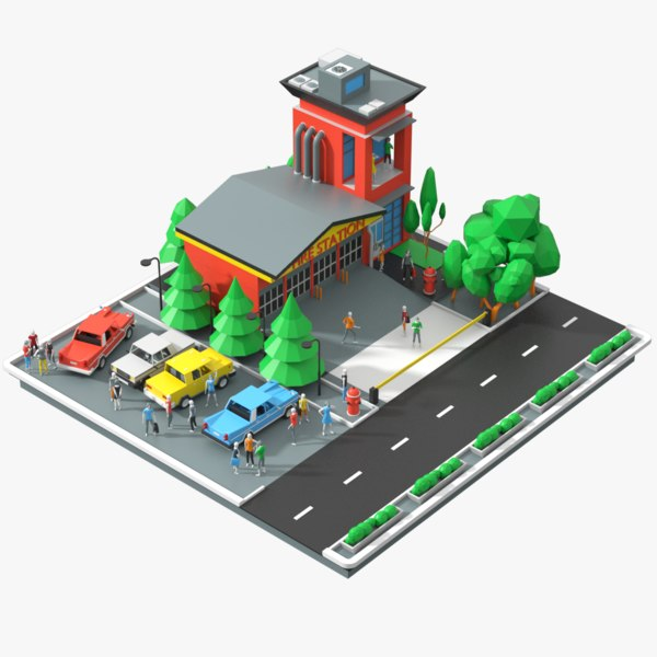 scene department cars 3D model