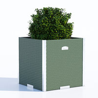 3D polyrattan planter model