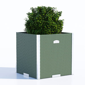 3D polyrattan planter model