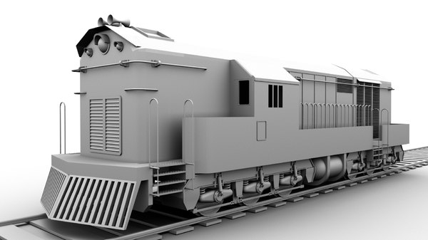 3D train engine