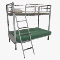 3D old bunk bed