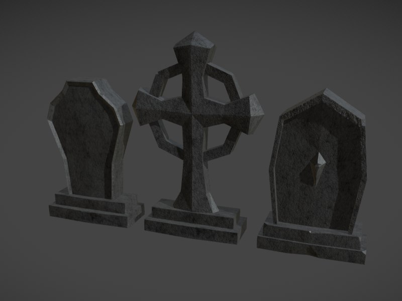 tombstone difusse specular 3D model