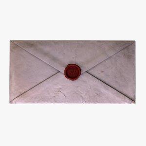 ready antique envelope wax 3D model