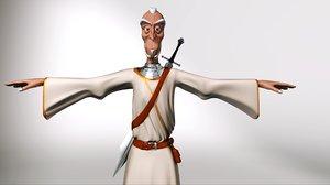 3D wizard warrior