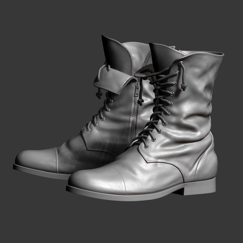boots zbrush base mesh 3D