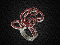 spiral jewelry ring