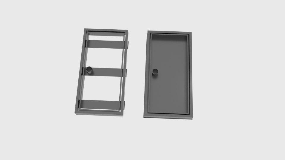 door cookie cutter mold model