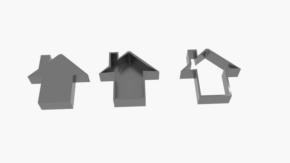 3D house chimney cookie cutter