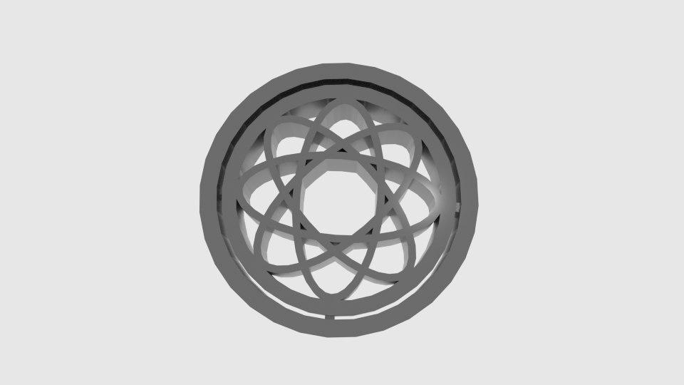3D wheel atom cookie cutter