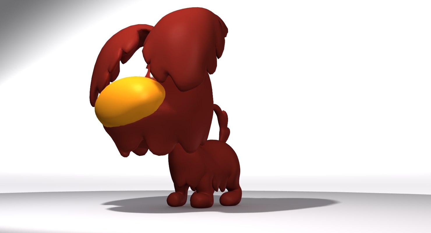 3D cute cartoon doggy
