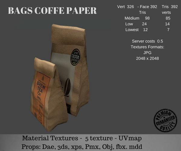 paper bag coffe 3D model