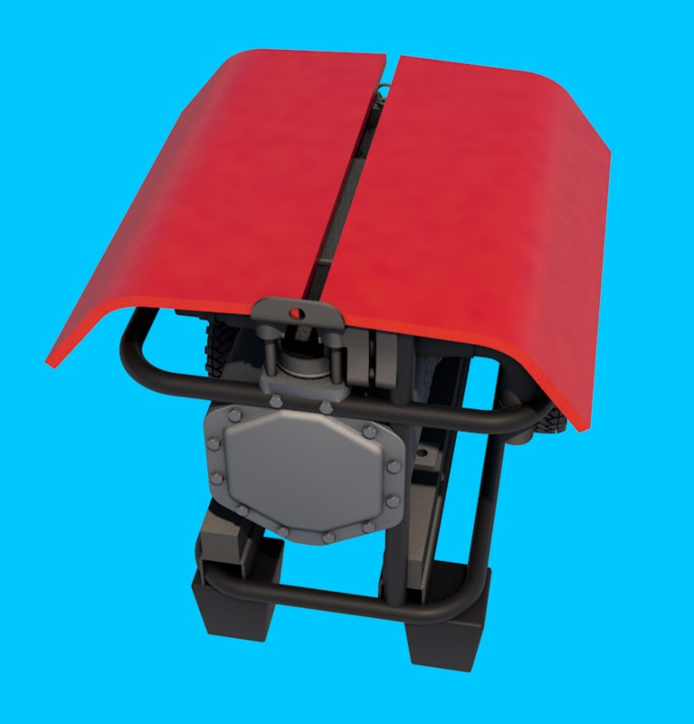 3D generator charger diesel model