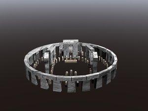 3D stone henge