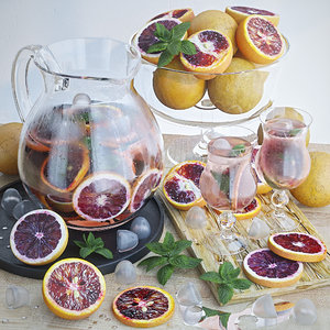 lemonade grapefruit fruit 3D