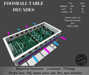 games table 3D model