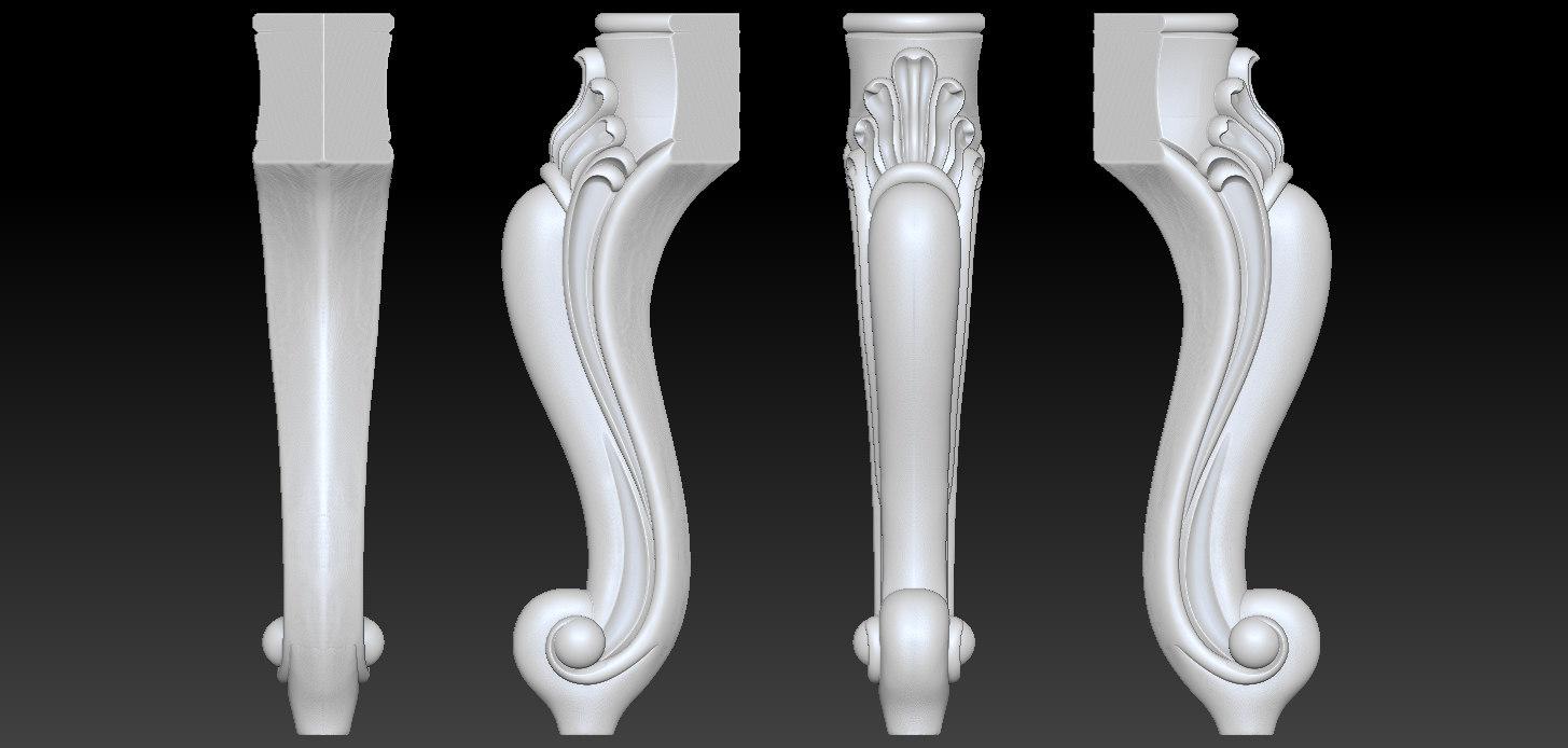 3D model ornament legs furniture