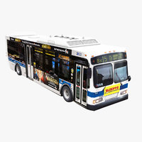 bus nyc 3D model