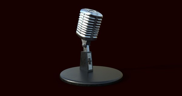 realistic microphone 3D model
