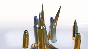 3D ammo pack subdiv bullet